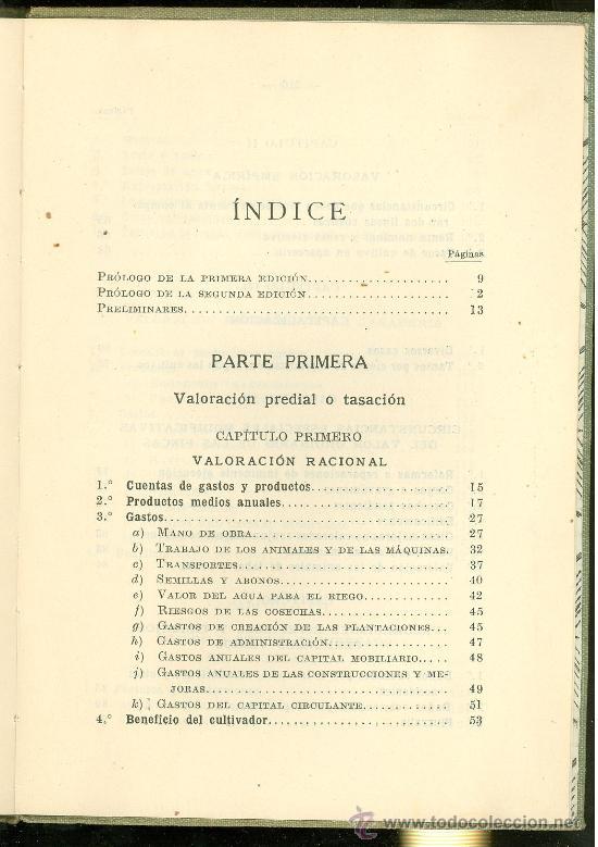 Libros antiguos: VALORACION AGRICOLA Y CATASTRO. SALAZAR MOULIAA. 1934. 220 PAGINAS. - Foto 2 - 18660024