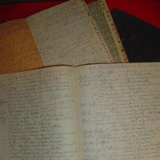 Libros antiguos: LOTE CUATRO LIBROS MANUSCRITOS DE PPIOS DEL S. XX. APUNTES POR ORDEN ALFABÉTICO EN ESPAÑOL E INGLÉS.. Lote 27058748