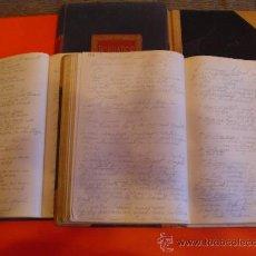 Libros antiguos: LOTE 4 LIBROS MANUSCRITOS DE PPIOS DEL S. XX. APUNTES POR ORDEN ALFABÉTICO EN ESPAÑOL E INGLÉS.. Lote 27058749
