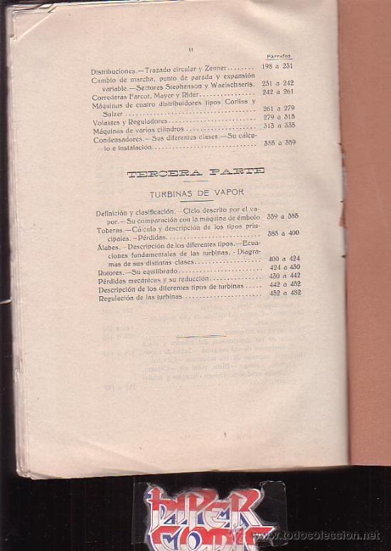 Libros antiguos: TRATADO DE MAQUINAS DE VAPOR / AUTOR : DON JOSE DE IRIARTE Y ARJONA - editado en 1923 - Foto 3 - 244897160