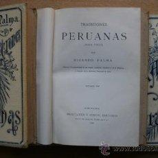 Libros antiguos: TRADICIONES PERUANAS. PALMA (RICARDO). Lote 21925331