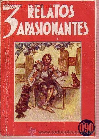 3 RELATOS APASIONANTES. NARRACIONES ROSA PARA LA JUVENTUD. EL SALTO DEL ATLANTICO, ROBINSON CRUSOE. (Libros Antiguos, Raros y Curiosos - Bellas artes, ocio y coleccionismo - Otros)