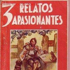 Libros antiguos: 3 RELATOS APASIONANTES. NARRACIONES ROSA PARA LA JUVENTUD. EL SALTO DEL ATLANTICO, ROBINSON CRUSOE.. Lote 21957913