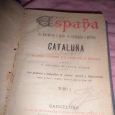 Libros antiguos: CATALUÑA - D.PABLO PIFERRER - DANIEL CORTEZO 1884 - 2 TOMOS BELLAMENTE ILUSTRADOS.. Lote 27589637