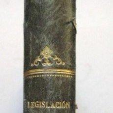 Libros antiguos: LEGISLACION DE CARRETERAS. CONSTRUCCION Y CONSERVACION. EXPROPIACIONES. MADRID 1910.. Lote 26303058