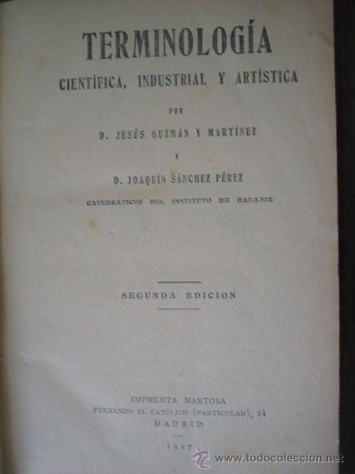 Terminología Científica Industrial Y Artística Comprar En