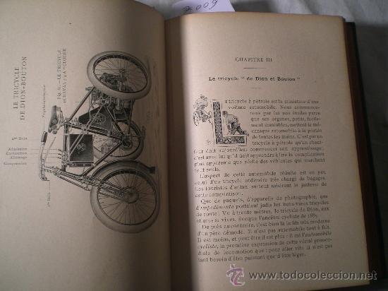 Libros antiguos: 1797- 2 libros L'AUTOMOBILE THÉORIQUE ET PRATIQUE; 1899 - Foto 3 - 22507120