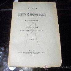 Libros antiguos: BOLETIN DEL INSTITUTO DE REFORMAS SOCIALES - JUNIO 1911. Lote 22596820