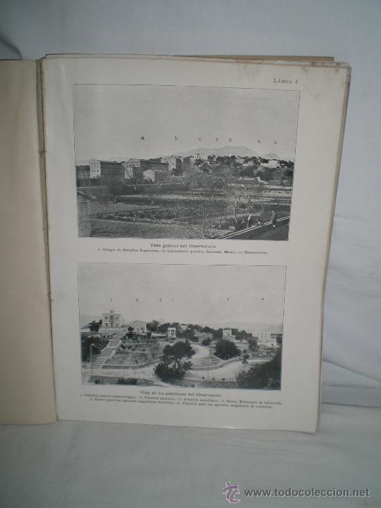 Libros antiguos: 0173- NOTICIA DEL OBSERVATORIO Y DE ALGUNAS OBSERVACIONES DEL ECLIPSE.EDIT GUSTAVO GILI. 1906 - Foto 3 - 22786157
