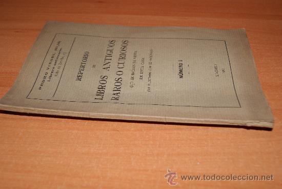 CATALOGO DE LIBROS ANTIGUOS /LIBRERIA ANTIGUA DE 1917 /LIBROS DE VIEJO CON LA PORTADA DE 12 LIBROS (Libros antiguos (hasta 1936), raros y curiosos - Literatura - Narrativa - Otros)