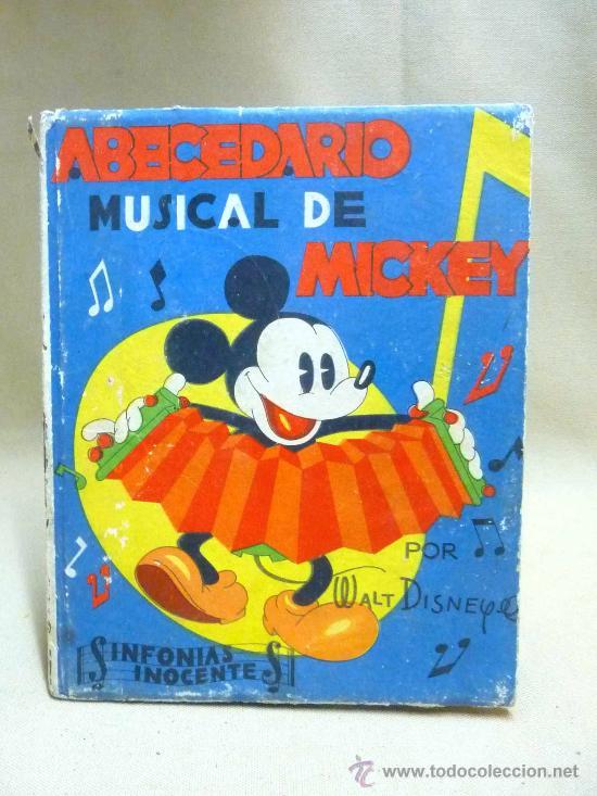 LIBRO, CANCIONERO, PARTITURAS, ABECEDARIO MUSICAL DE MICKEY, WALT DISNEY, SINFONIAS INOCENTES, 1936 (Libros Antiguos, Raros y Curiosos - Literatura Infantil y Juvenil - Otros)