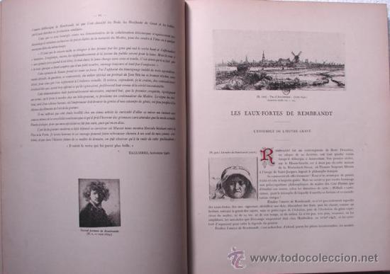 Libros antiguos: LES EAUX - FORTES DE REMBRANDT. L ENSEMBLE DE L OEUVRE - LA TECHNIQUE DES - Foto 3 - 27236602