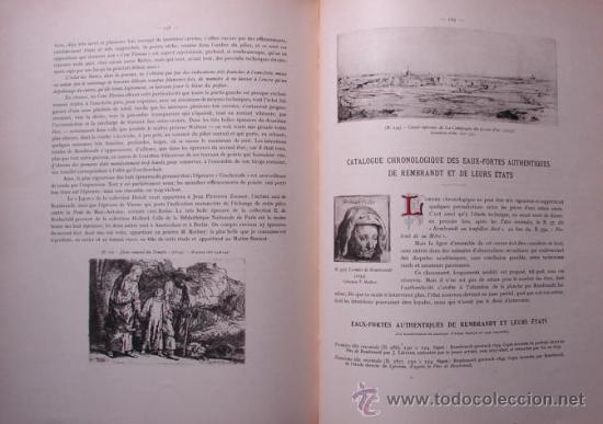 Libros antiguos: LES EAUX - FORTES DE REMBRANDT. L ENSEMBLE DE L OEUVRE - LA TECHNIQUE DES - Foto 5 - 27236602