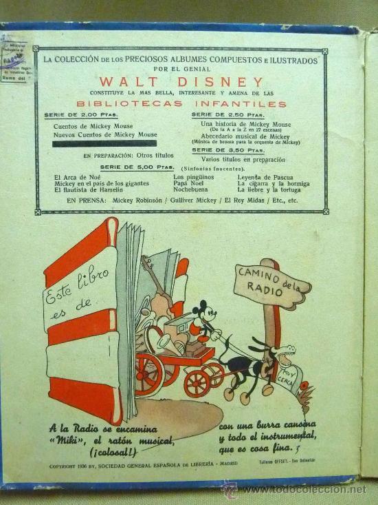 Libros antiguos: LIBRO, CANCIONERO, PARTITURAS, ABECEDARIO MUSICAL DE MICKEY, WALT DISNEY, SINFONIAS INOCENTES, 1936 - Foto 3 - 22949619