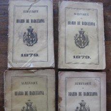Libros antiguos: ALMANAQUE DEL DIARIO DE BARCELONA, 4 TOMOS, AÑOS: 1878, 1879, 1880 Y 1881, COMPLETOS. Lote 27088023