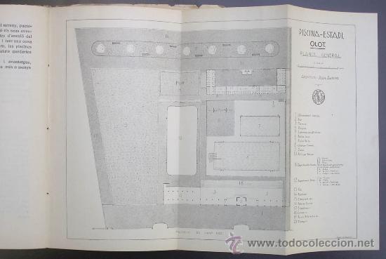 Libros antiguos: PISCINA - ESTADI: OLOT. MEMORIA PRELIMINAR. IMPREMTA DE P. ALZAMORA. OLOT, 1934. - Foto 5 - 26169197