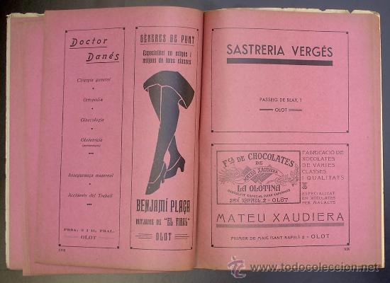 Libros antiguos: PISCINA - ESTADI: OLOT. MEMORIA PRELIMINAR. IMPREMTA DE P. ALZAMORA. OLOT, 1934. - Foto 6 - 26169197