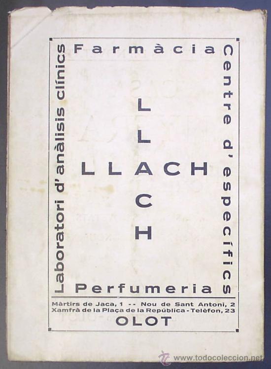 Libros antiguos: PISCINA - ESTADI: OLOT. MEMORIA PRELIMINAR. IMPREMTA DE P. ALZAMORA. OLOT, 1934. - Foto 7 - 26169197