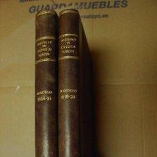 Libros antiguos: MEMORIAS DE EUSKO IKASKUNTZA 2 TOMOS, TOMO I (1918-1926). TOMO II (1926-1934). Lote 23174618