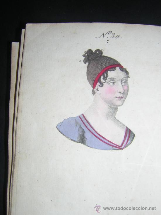 Libros antiguos: 1815 - LE LAVATER DES DAMES OU LÀRT DE CONNOITRE LES FEMMES SUR LEUR PHYSIONOMIE - 30 LAMINAS COLOR - Foto 4 - 26503984