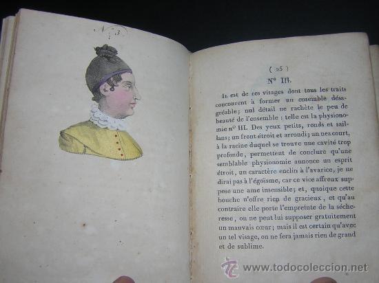 Libros antiguos: 1815 - LE LAVATER DES DAMES OU LÀRT DE CONNOITRE LES FEMMES SUR LEUR PHYSIONOMIE - 30 LAMINAS COLOR - Foto 7 - 26503984