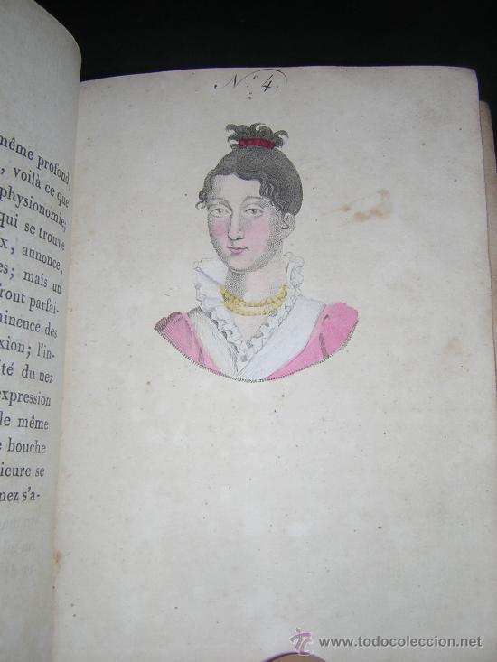 Libros antiguos: 1815 - LE LAVATER DES DAMES OU LÀRT DE CONNOITRE LES FEMMES SUR LEUR PHYSIONOMIE - 30 LAMINAS COLOR - Foto 8 - 26503984