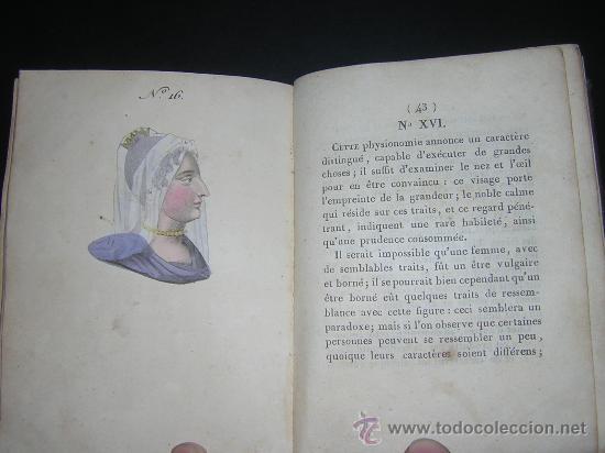 Libros antiguos: 1815 - LE LAVATER DES DAMES OU LÀRT DE CONNOITRE LES FEMMES SUR LEUR PHYSIONOMIE - 30 LAMINAS COLOR - Foto 10 - 26503984