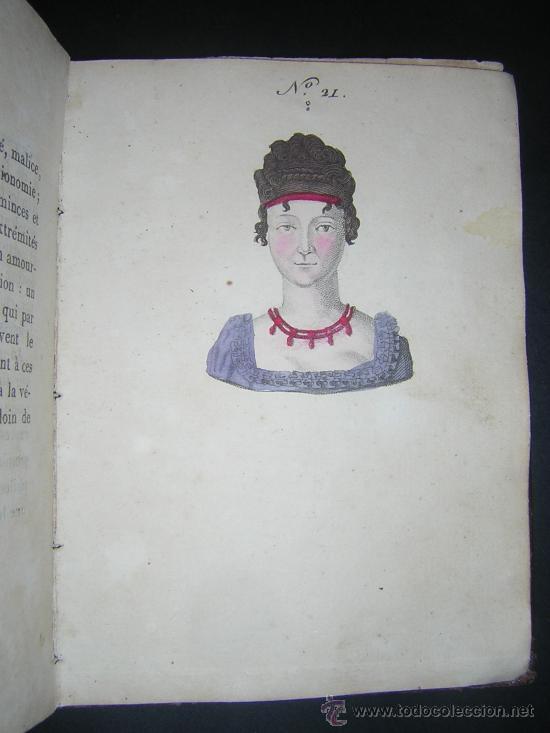 Libros antiguos: 1815 - LE LAVATER DES DAMES OU LÀRT DE CONNOITRE LES FEMMES SUR LEUR PHYSIONOMIE - 30 LAMINAS COLOR - Foto 12 - 26503984