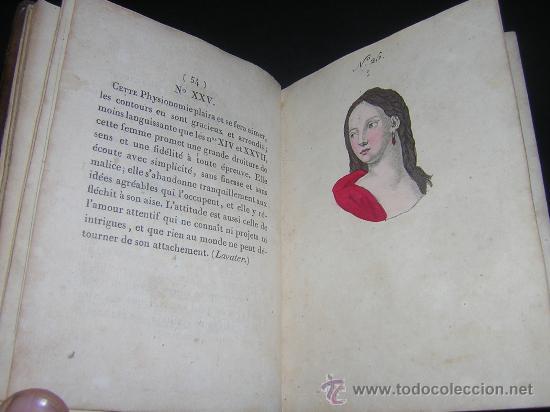 Libros antiguos: 1815 - LE LAVATER DES DAMES OU LÀRT DE CONNOITRE LES FEMMES SUR LEUR PHYSIONOMIE - 30 LAMINAS COLOR - Foto 13 - 26503984