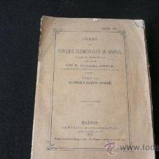 Libros antiguos: CURSO DE ESTUDIOS ELEMENTALES DE MARINA- TOMO III- COSMOGRAFÍA - GABRIEL CISCAR (1873). Lote 23257566