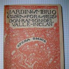 Libros antiguos: JARDIN UMBRIO RAMON DEL VALLE INCLAN. Lote 27194038