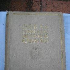 Libros antiguos: OBRAS COMPLETAS CONDE DE ROMANONES.. Lote 26759146