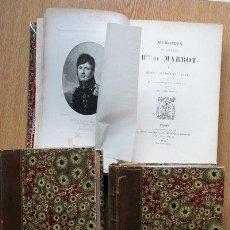 Libros antiguos: MÉMOIRES DU GÉNÉRAL BARON DE MARBOT. MARBOT (BARON DE). Lote 23925415