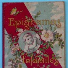 Livres anciens: BIBLIOTECA IBERO AMERICANA. EPIGRAMAS INFANTILES. MANUEL OSSORIO Y BERNARD. IMP. ELZEVIRIANA, 1923.. Lote 24131310