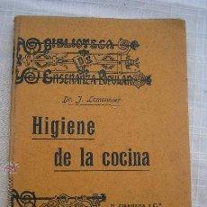 Libros antiguos: 1920 LEMONNIER: HIGIENE DE LA COCINA. MUY BUEN EJEMPLAR. Lote 23959420