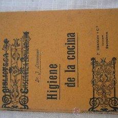 Libros antiguos: 1920 LEMONNIER: HIGIENE DE LA COCINA.. Lote 23959420