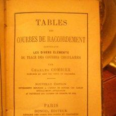 Libros antiguos: CHARLES COMBIER TABLES DE COURBES RACCORDEMENT PARÍS 1884. Lote 25661670