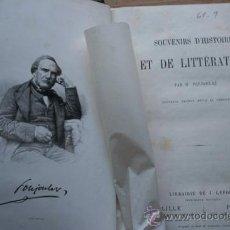 Libros antiguos: SOUVENIRS D'HISTOIRE ET DE LITTERATURE.NOUVELLE ÉDITION REVUE ET CORRIGÉE. POUJOULAT (M.). Lote 24270477