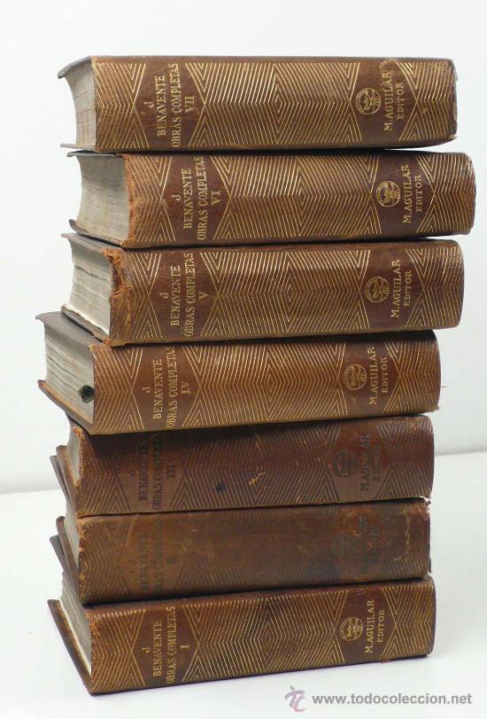 BENAVENTE, OBRAS COMPLETAS, 7 VOLÚMENES, AGULILAR ED. 1940. (Libros antiguos (hasta 1936), raros y curiosos - Literatura - Narrativa - Otros)