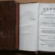 Alte Bücher - Memoirs of the...St. Forlaix (Marquis) Translated from the french of Mons. Framery by Mrs. Brooke. - 24589640