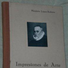 Libros antiguos: IMPRESIONES DE ARTE. (COLECCIONES PARTICULARES).. Lote 24119833