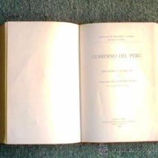 Libros antiguos: GOBIERNO DEL PERÚ - SIGLO XVI - MATIENZO - 1A. EDICIÓN 1910. Lote 25201315