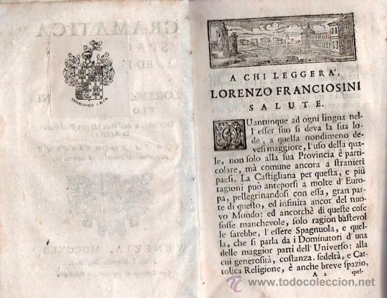 Libros antiguos: GRAMATICA ESPAÑOLA E ITALIANA. VENECIA 1742 / GRAMATICA SPAGNOULA ED ITALIANA. FRANCIOSINI - Foto 6 - 26799106