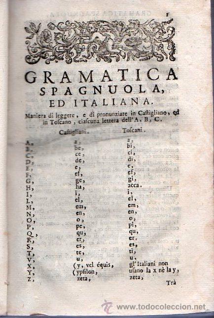Libros antiguos: GRAMATICA ESPAÑOLA E ITALIANA. VENECIA 1742 / GRAMATICA SPAGNOULA ED ITALIANA. FRANCIOSINI - Foto 5 - 26799106
