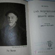 Libros antiguos: COLECCION CRISOL - LAS INQUIETUDES DE PIO BAROJA. Lote 25312495