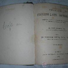 Libros antiguos: ENGLISH - LATIN DICTIONARY 1878. Lote 25312714