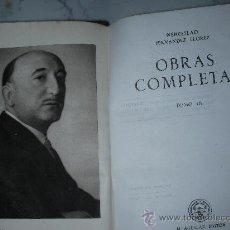 Libros antiguos: COLECCION CRISOL - OBRAS COMPLETAS DE WENCESLAO HERNANDEZ FLORES VOL.3. Lote 25315488