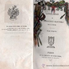 Libros antiguos - OBRAS LITERARIAS DE D. FRANCISCO MARTINEZ DE LA ROSA. TOMO SEGUNDO 1827 - 26851203