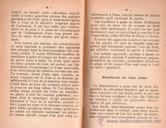 Libros antiguos: SECHAGE DES FRUITS ET DES LEGUMES POR H.SIBILON - Foto 3 - 25403120