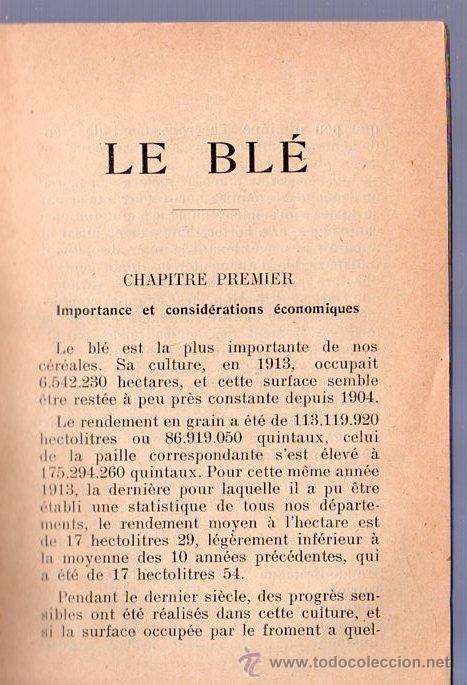Libros antiguos: LE BLE POR A. PAIREMAURE - Foto 3 - 25405757